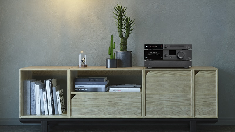 CD-2 and TDAI-3400 on furniture