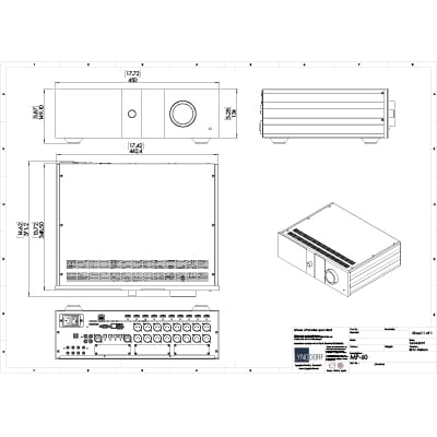 Lyngdorf MP-60 technical drawings