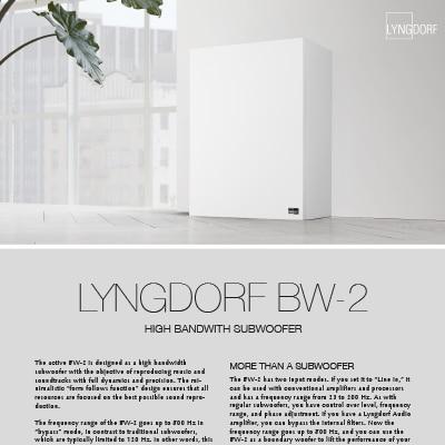 Lyngdorf BW-2 fact sheet
