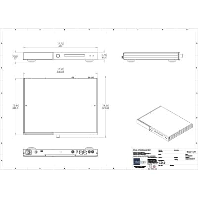 Lyngdorf CD-2 technical drawings