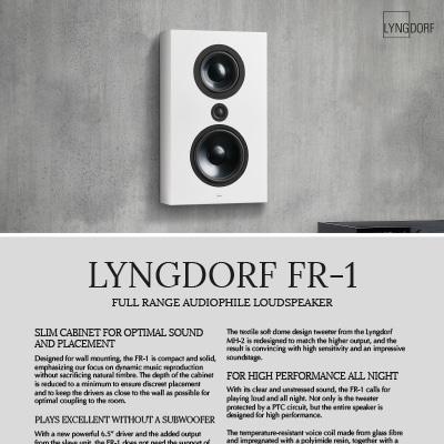 Lyngdorf FR-1 fact sheet