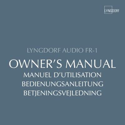 Lyngdorf FR-1 owner's manual
