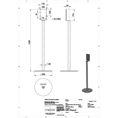 MH stand technical drawings