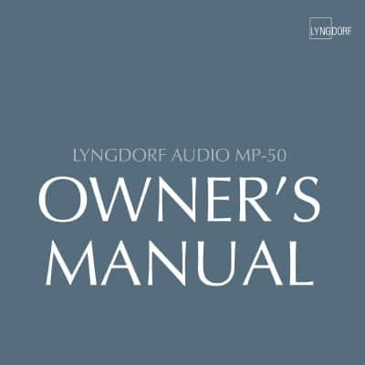 Lyngdorf MP-50 owner's manual (4 languages)