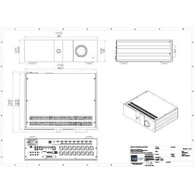 Lyngdorf MP-50 technical drawings