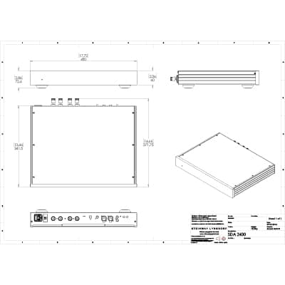 Lyngdorf SDA-2400 technical drawings