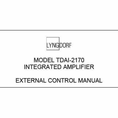 Lyngdorf TDAI-2170 external control manual