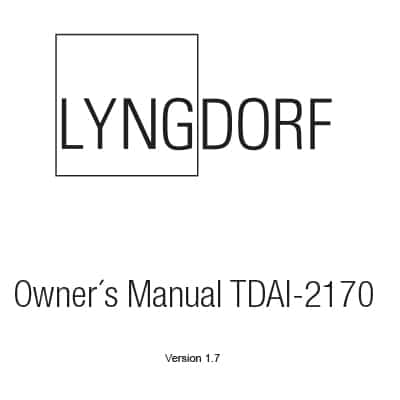 Lyngdorf TDAI-2170 owner's manual (4 languages)