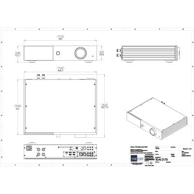 Lyngdorf TDAI-2170 technical drawings