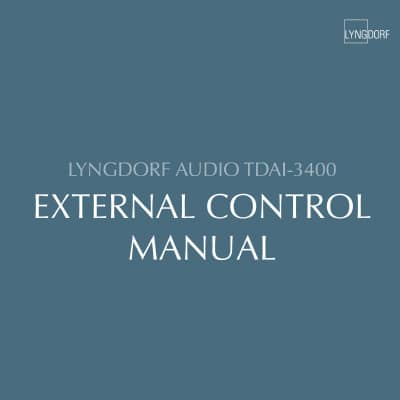 Lyngdorf TDAI-3400 External Control Manual