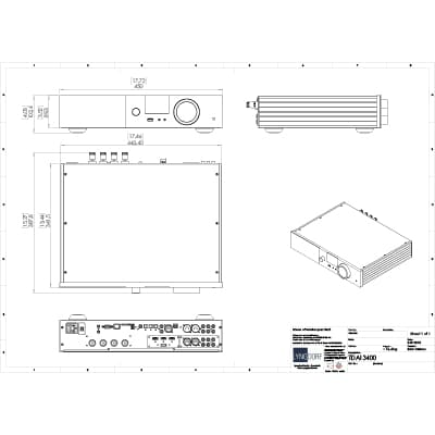 Lyngdorf TDAI-3400 technical drawings