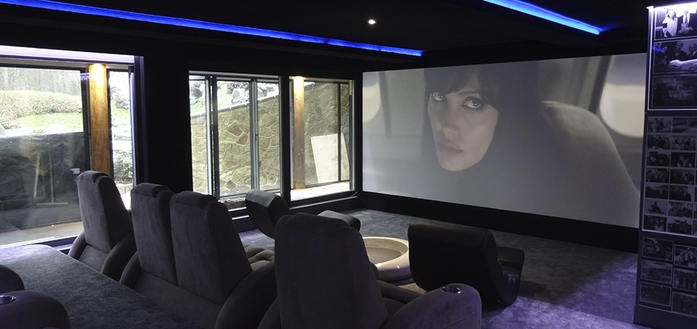 Dolby Atmos home theater with Model S 4