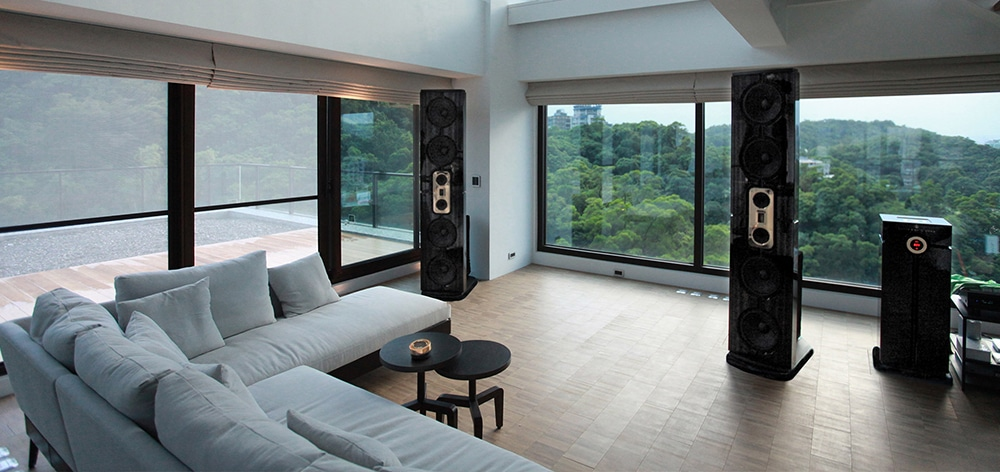 Modern residence with Model D installation