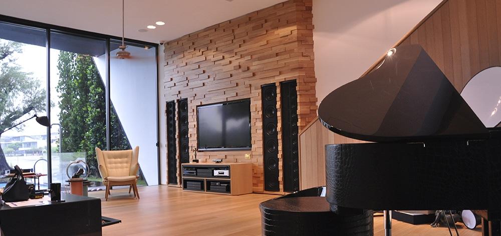 Model LS installed in living room