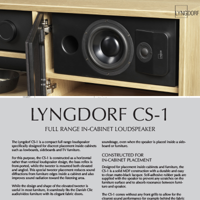 Lyngdorf CS-1 fact sheet