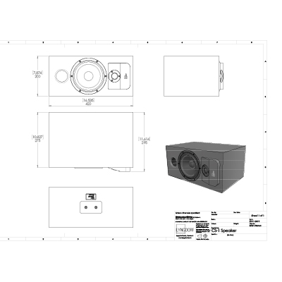 Lyngdorf CS-1 technical drawings