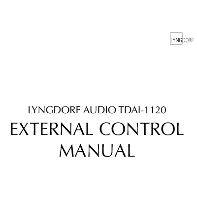 Lyngdorf TDAI-1120 External control manual