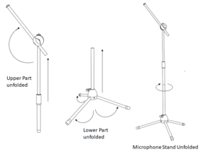 RP microphone stand assembly