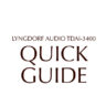 TDAI-3400 quick guide (ENG & DK)